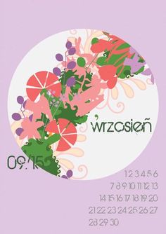 Here's a free printable 2015 calendar for all of you who loves flowers and nature. You can download it from: http://www.kaja.lebork.pl/KAJA-Kalendarz-2015.html and print it for you or your friends! #wrzesien #kalendarz2015 #september #kwiaty #flowers #wrzosowy