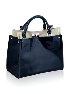 Chancebanda Women's Patent Leather Tote, Navy, http://www.myhabit.com/redirect/ref=qd_sw_dp_pi_li?url=http%3A%2F%2Fwww.myhabit.com%2Fdp%2FB00MOH3CY8%3Frefcust%3DLFX2VJS7ORAPVWBCLYEVYAWQ6M