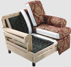 Resultado de imagen para sofa frames for upholstery Furniture Making, Diy Furniture, Furniture Design, Art Deco Chair, Muebles Living, Wood Sofa, Sofa Frame, Classic Furniture, Upholstered Furniture