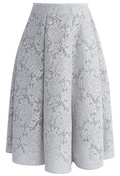 Blooming Romance Airy A-line Skirt in Grey - New Arrivals - Retro, Indie and Unique Fashion Modest Fashion, Unique Fashion, Vintage Fashion, Fashion Dresses, Fashion Brand, Womens Fashion, Fashion Fashion, Led Dress, Cool Style