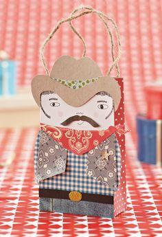 free crazy cowboy gift bag template