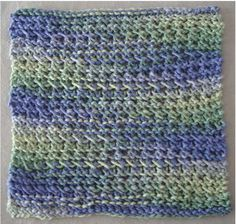 """Thermal Knit Dishcloth - If you love  making dishcloths, you will love this pattern! It is almost like a thermal blanket stitch pattern.  Easy to follow, 3 row repeat.  It qoes quickly!  You can make tons of these for gifts. Uses one ball of cotton worsted weight yarns, knitting needles US # 10.  This is a fun pattern, so you wont' get bored working on it, yet is easy to remember as you knit along.  Finished size is about 8 1/2"""" by 9"""" inches.  $1.50"""