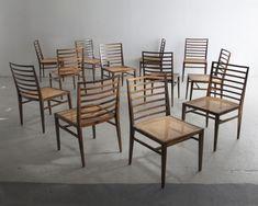 Jacaranda Esszimmerstühle von Joaquim Tenreiro, 1950er, 12er Set bei Pamono kaufen