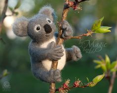Hey, I found this really awesome Etsy listing at https://www.etsy.com/listing/231127176/felted-koala-felt-animal-wool-toy-needle