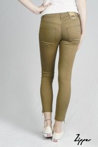 Women's Sage Zipper Organic Sateen Jeans WAS £65 NOW £40 Available now at Monkeegenes.com