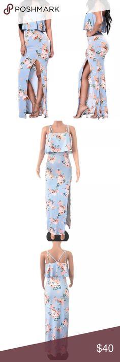 Selling this Floral maxi dress on Poshmark! My username is: stylngopashion. #shopmycloset #poshmark #fashion #shopping #style #forsale #stylngopashion #Dresses & Skirts