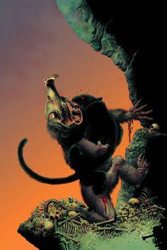richard corben midnight battle at DuckDuckGo Arte Horror, Horror Art, Dark Fantasy, Fantasy Art, Sword And Sorcery, Horror Comics, Creepy Art, Illustrations, Dark Horse