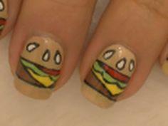 ❤Nail Art Supplies❤ http://www.cupcakenailart.com  Super cute cheeseburger nail art. If you want to see more food related videos feel free to leave a request ^_^ Hope you like it ;)    Music is by Jason Shaw  http://www.audionautix.com/    Thank you so much for watching and please subscribe, rate and comment for lots more videos!! =D    *Disclaimer*  I w...