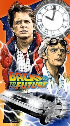『バック・トゥ・ザ・フューチャー』Back to the Future - movie poster - Brian C. Science Fiction, The Future Movie, Rock Poster, Bttf, Alternative Movie Posters, Movie Poster Art, Classic Movies, Great Movies, Movies Showing