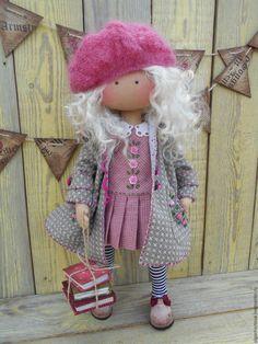 Купить МАЛЫШКА в пальтишке (с совой) - розовый, кукла ручной работы, Кукла в…