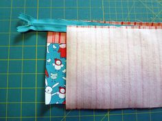 Whimsical Zippered Pouch using the BERNINA 380 - MASTER CRAFTSTERS - great zipper instruction!