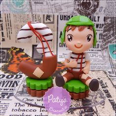 Mini Topinho com vela Chaves - Paty's Biscuit