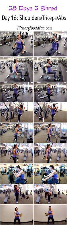 Day: 16 shoulders/triceps/abs workout/video