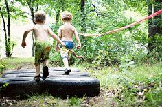 mud run birthday party ...or summer fun!