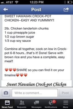 Sweet Hawaiian chicken