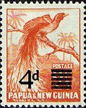 Papua New Guinea 1957 SG 16 4d.Overprint Fine Mint Scott 137 Other Papua New Guinea Stamps HERE