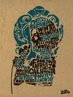 Gil Scott Heron Inspired Poster taken from the Ubiquity Records Blog