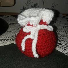 bd1d3f7c22e Santa Sack coal bags Crochet Santa sacks Candy sack of coal Red sack Green  sack Grinch sack