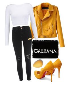 """don't forget about me"" by rocklikeachampion ❤ liked on Polyvore featuring Cushnie Et Ochs, Dolce&Gabbana, Christian Louboutin, beautyblender and 171"