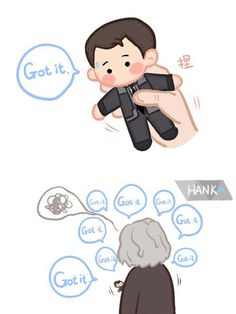 Got it || Hank & Connor || Detroit become human || Cr: Reloon