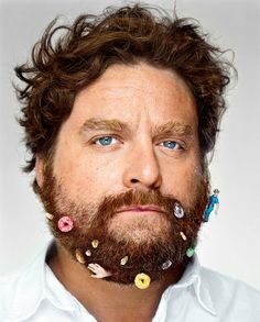 Zach Galifianakis by Martin Schoeller, New York, NY, 2009.