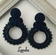 Soutache Earrings, Fabric Jewelry, Shibori, Handmade Jewelry, Jewellery, Fashion, Stud Earrings, Necklaces, Bangle Bracelets