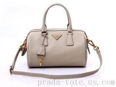 Authentic  Prada BL0797 Handbags in Light Gray Outlet store Prada Tote 278f1a11e186b