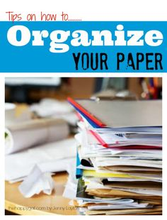 Great tips to help you get a handle on all of your paper clutter! #thehappygal #organizing