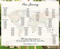 Travel Wedding Seating Chart - Vintage World Map - Destination wedding - Printable file - wedding table plan by redlinecs on Etsy