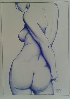 Nude  ballpoint pen Drawing  #BicBrasil #drawings #desenhos #caneta #bannerstar #photogrid #Pilot