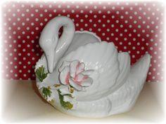 Vintage Norcrest Porcelain Swan Planter