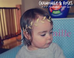 Boho Gold Leaf Garland Headband. Gold Leaf by ChamomileAndRoses, $8.00