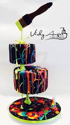 Vicky Angel Cake Design - For all your cake decorating supplies, please visit cr. - cooking and bakery - gâteaux Crazy Cakes, Fancy Cakes, Unique Cakes, Creative Cakes, Fondant Cakes, Cupcake Cakes, Shoe Cakes, Bolo Neon, Gravity Defying Cake