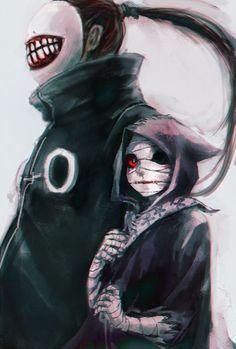 Eto and Noro, Tokio Ghoul art Manga Anime, Art Manga, Me Anime, Dark Anime, Anime Art, Ken Kaneki Tokyo Ghoul, Tokyo Ghoul Fan Art, Natsume Yuujinchou, Image Manga