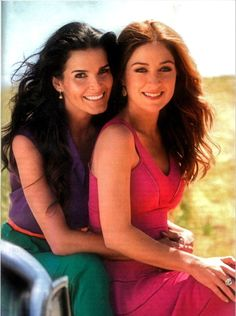 Angie Harmon and Sasha Alexander in a photo shoot-God, I love this picture!