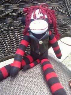 Biker Pirate Sock Monkey by QueenStreetCreations on Etsy, $49.95