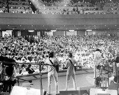 """Elvis at the Las Vegas Hilton 1970; where stage performances were filmed for """"That's The Way It Is""""."""