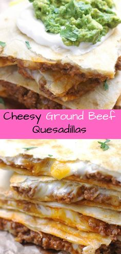 Grоund Bееf Quesadillas Make low carb by using low carb wraps.Make low carb by using low carb wraps. Food Network Recipes, Gourmet Recipes, Appetizer Recipes, Mexican Food Recipes, Beef Recipes, Low Carb Recipes, Cooking Recipes, Appetizers, Mexican Dishes