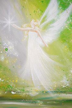 Limited angel art poster follow your dream modern by HenriettesART