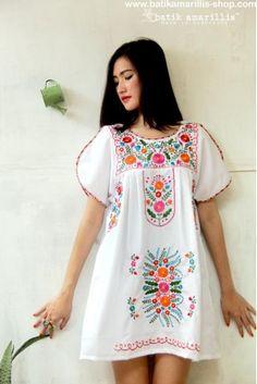 batik amarillis's frida tunic/mini dress
