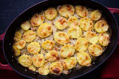 Onion Potato Gratin | With cheese, onions, and potatoes, how can one go wrong? Unless of course you are on a diet, in which case you should probably stay away from this one. This recipe is easy to make, delicious, and filling. | From: simplyrecipes.com