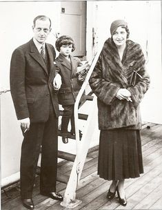 Audrey Emory, with then husband Grand Duke Dmitri Pavlovitch and son from: Not Sweating the Small Stuff