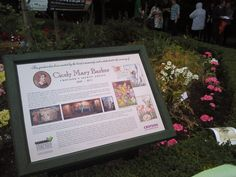 The new plaque unveiled at the Cicely Mary Barker garden in Park Hill Recreation Ground, Croydon
