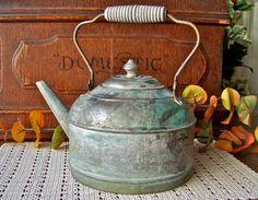 Primitive Copper Teapot by cynthiasattic on Etsy, $49.00
