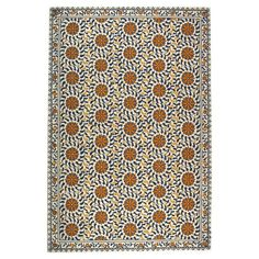 Hand-hooked virgin wool rug with a medallion motif.   Product: RugConstruction Material: WoolColor: