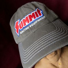 Summit Racing Equipment NHRA Baseball Hat Cap OSFA Gray Tech Mechanic Promo…