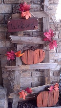 Fall ladder for my porch. Made from fence pickets!