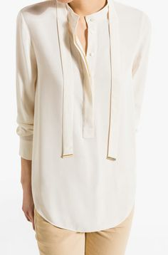VISCOSE SHIRT WITH BOW - View all - Shirts & Blouses - WOMEN - Turkey