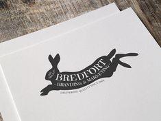 Rabbit Logo Design Hare Logo Design Hand Drawn by CreativeMotive