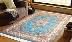 tappeto classico azzurro disegno orientale